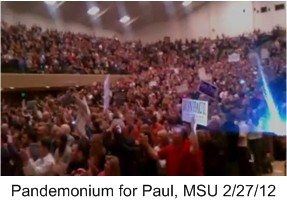 Pandemonium for Paul at MSU 2012-Feb-27